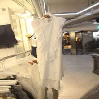 [PO] Elva White A-line Dress