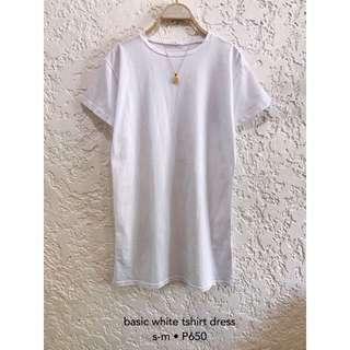 White Basic Tshirt Dress