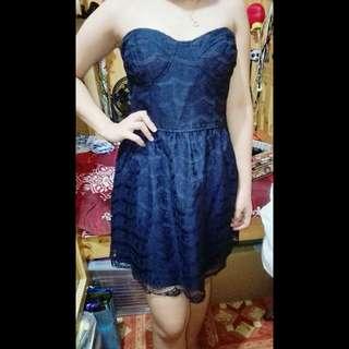 Navy blue zara lace dress