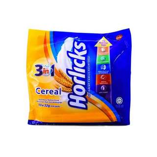 Horlicks 3in1 cereal nutritious malted drink