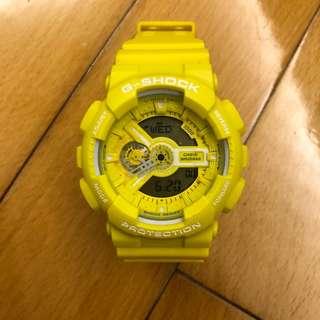 G-shock手錶 罕有檸檬黃色 GA-110BC