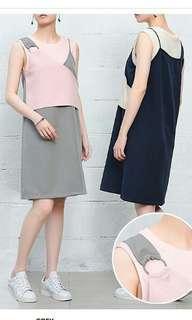 Solemio Jersey Dress Grey Pink