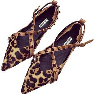 🚚 豹紋造型涼鞋