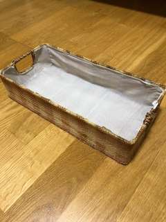 Canvas weave tray