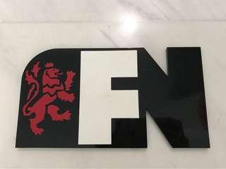 F&N acrylic plaque