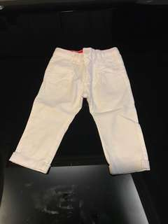 Baby's white trousers