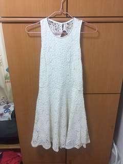 Hollister open back beige lace dress one piece