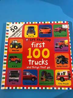 Lift-the-flap first 100 Trucks and Things That go