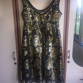 CIEL black and gold dress