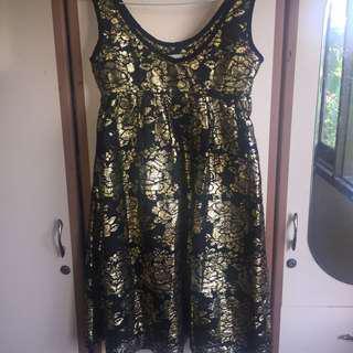 CIEL black and gold dress
