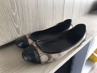 Coach monogram flat shoes 平底鞋