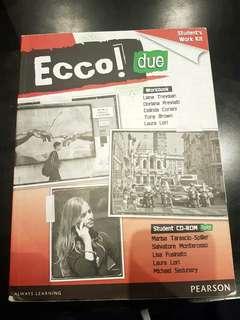 Ecco Uno/Due textbook/workbook