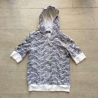 Printed Short Sleeved Hoodie