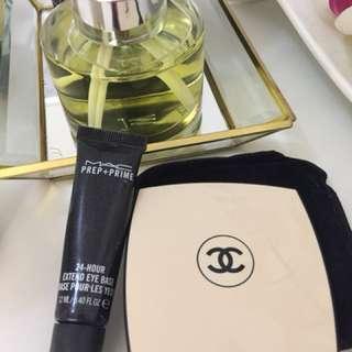 Chanel Powder MAC Primer eyes