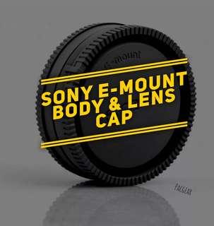 Sony E-mount Extra Body Caps Lens Rear Caps a6000 a6500 a5100 A7R a7s