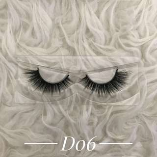 1 pair of handmade mink wispies false eyelashes falsies