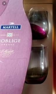 Martell 酒杯兩只連名仕馬爹利禮盒,不連酒。