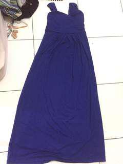 Maxi dress deep blue