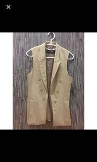 Zara sleeveless Suit Jacket