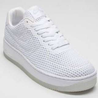 NIKE AIR FORCE 1 WHITE MESH