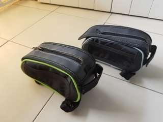 Bicycle storage pouch