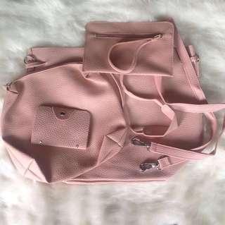4 in 1 Set Korean Bag (Shoulder & Body Bag, Purse, Card Holder)