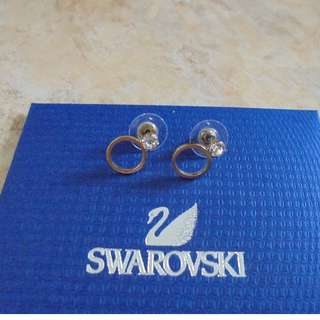 SWAROVSKI EARRINGS - NEVER BEEN USED - BOUGHT IN LONDON - VINTAGE DISCONTINUED DESIGN - WITH DUSTBAG