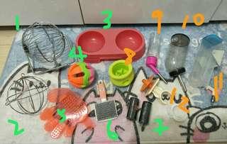 Assorted pet accessories