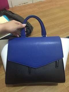 PEDRO PENTAGON LEATHER BAG LIKE NEW