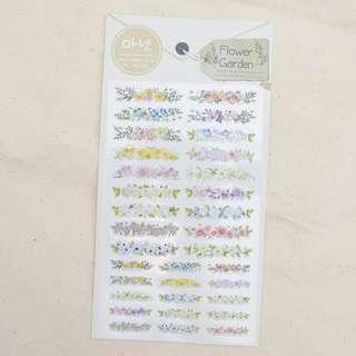 Monet Flower Garden Diary Deco Stickers