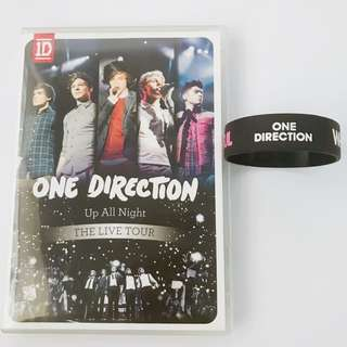 ONE DIRECTION UP ALL NIGHT THE LIVE TOUR DVD + WRISTBAND
