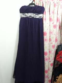 Violet Tube Gown