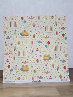 La'boom 'Happy Birthday' Scrapbooking Paper
