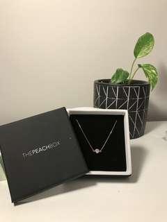 Suspended Bezel Crystal Bracelet (Rose Gold)