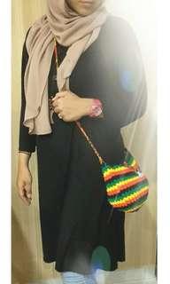 Crochet Rasta Sling Bag