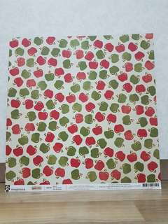 Imaginisce 'Give Thanks: Apple Pie' Scrapbooking Paper