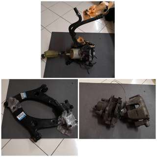 Mazda 3 parts -  front brake caliper,lower arm & electric power stering pump