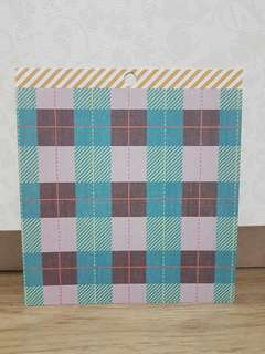 "American Craft 6x6"" Scrapbooking Paper (Blue Checkered)"