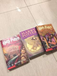 3 Harry Potter books