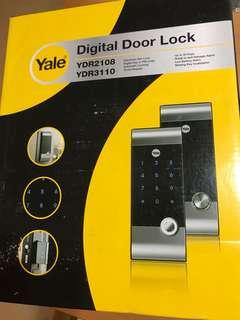 BNIB Yale digital lock YDR2108 YDR3110