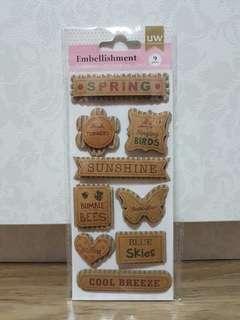 UW Scrapbooking 'Spring' Embellishment