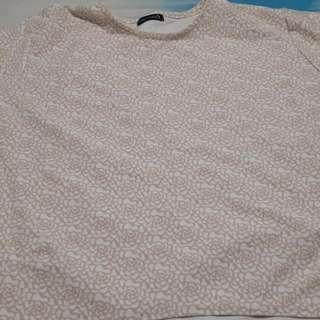 Preloved Grey Laurel Large Pink Flowery Top shirt