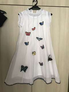 Dress with 3D butterflies