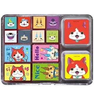 🚚 正版授權 Yo-kai Watch 妖怪手錶 盒裝印章組 印章
