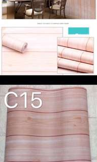 Wood grain pvc waterproof wallpaper sticker
