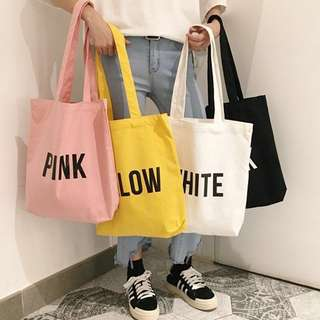 [PO] Typography Tote Bag