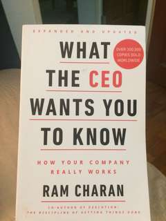 🚚 What the CEO wants you to know by Ram Charan