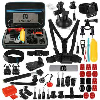 🚚 GoPro PULUZ 53 in 1 Accessories for GoPro NEW HERO /HERO6 / 5/4 Session /