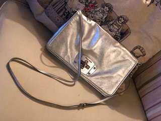 Miu Miu metallic leather shoulder bag