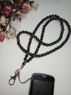 ID Badge and Cellphone Holder lanyard necklace